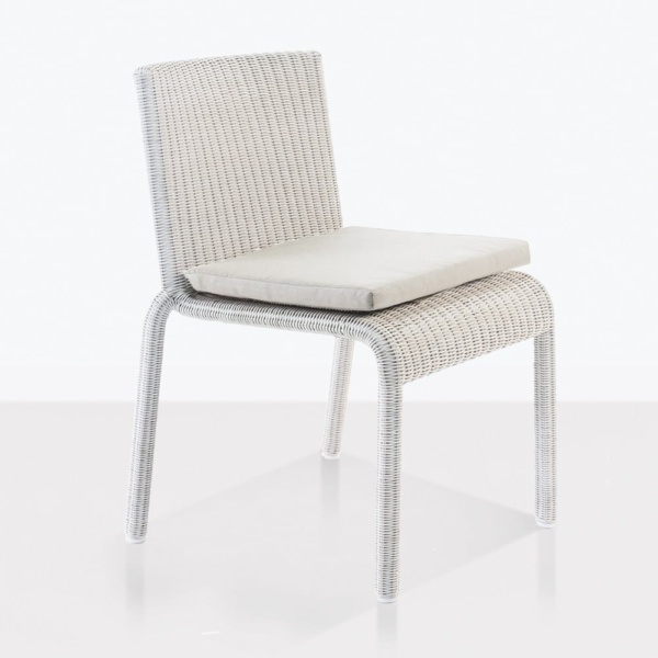Zambezi dining side chair wicker chalk