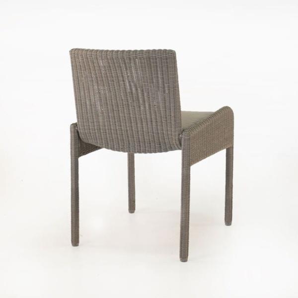 Zambezi Wicker Dining Arm Chair (Pebble)-586