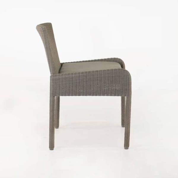 Zambezi Wicker Dining Arm Chair (Pebble)-587