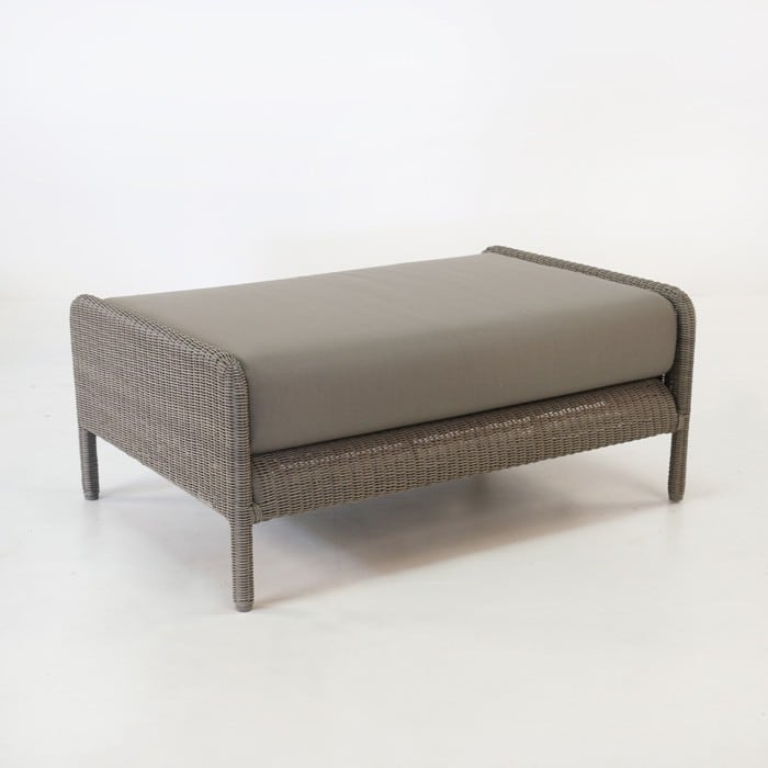 Zambezi Outdoor Wicker Ottoman (Pebble)-0