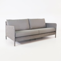 Zambezi Outdoor Wicker Sofa (Pebble)-0