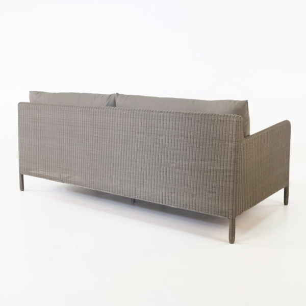 Zambezi Outdoor Wicker Sofa (Pebble)-772