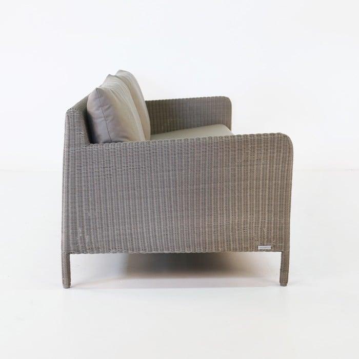 Zambezi Outdoor Wicker Sofa (Pebble)-771