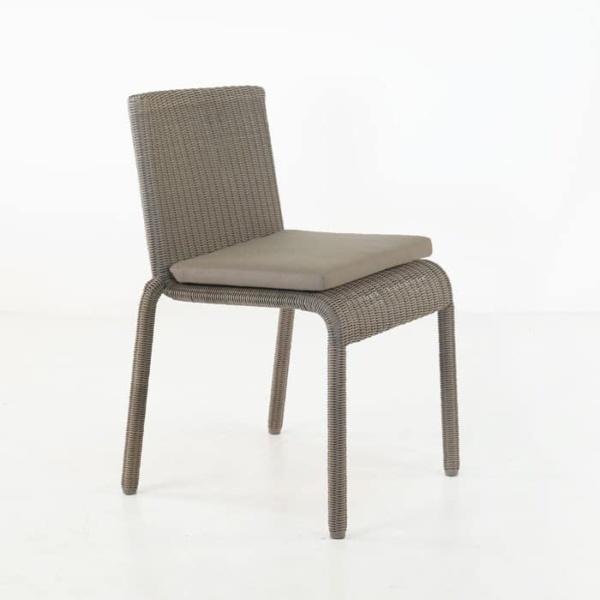 Zambezi Wicker Stacking Dining Chair (Pebble)-0