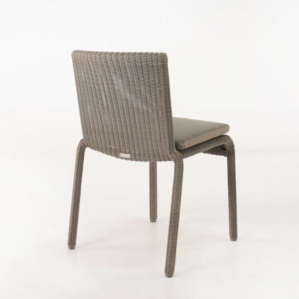 Zambezi Wicker Stacking Dining Chair (Pebble)-597