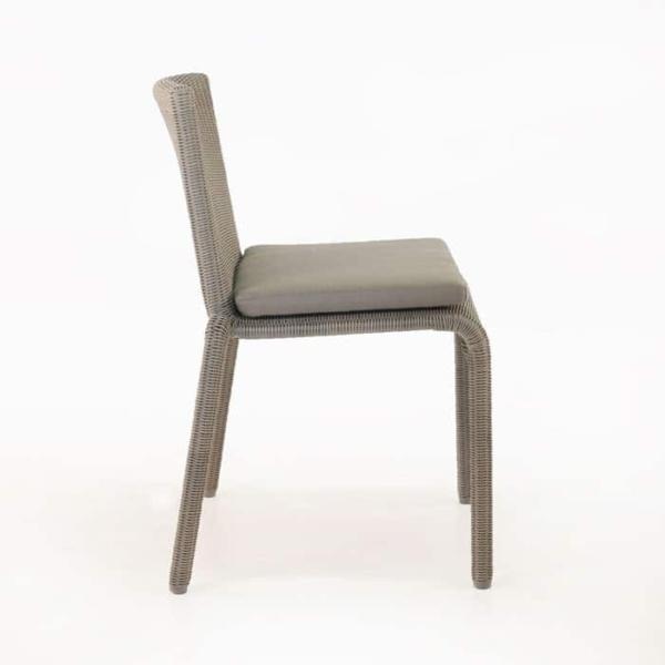 Zambezi Wicker Stacking Dining Chair (Pebble)-598