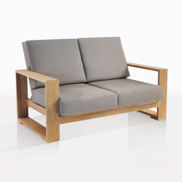 havana teak outdoor loveseat angle
