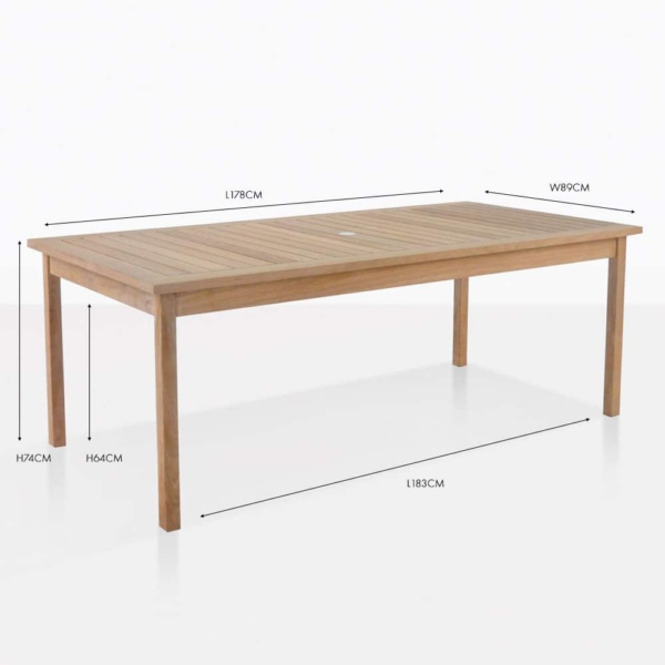 nova fixed rectangle dining table