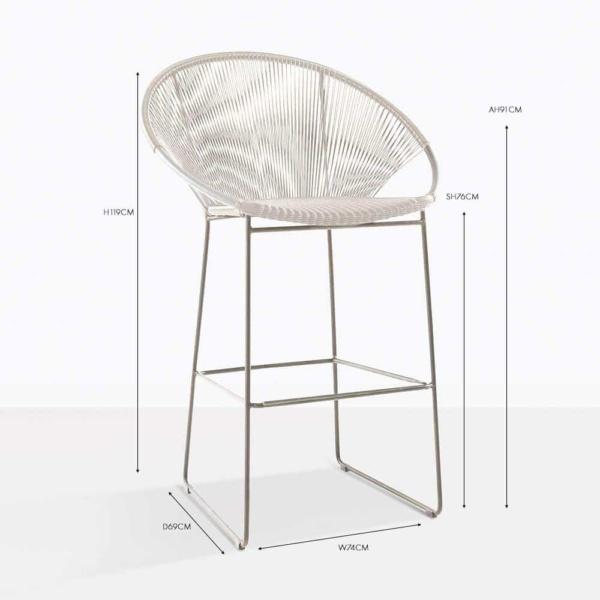 pietro bar stool white