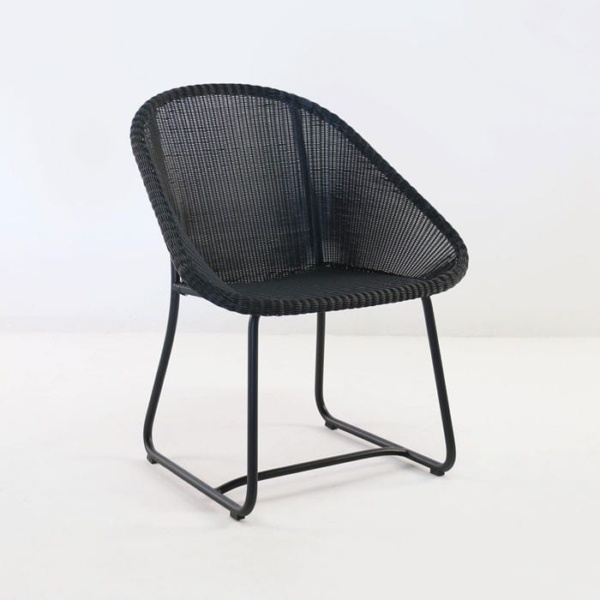 breeze wicker dining arm chair without cushion
