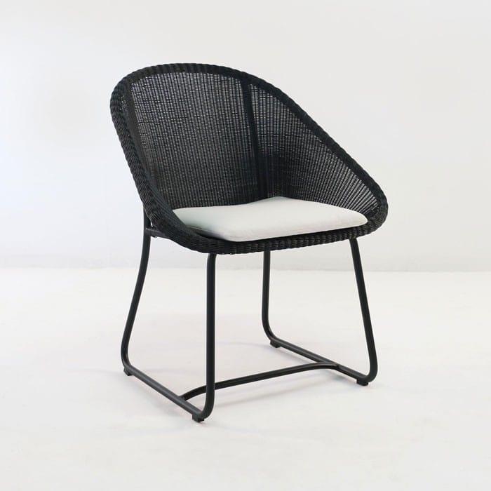 Breeze Outdoor Dining Arm Chair Black Design Warehouse Nz