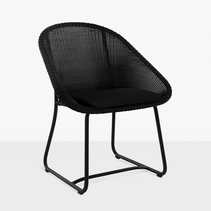 Breeze Outdoor Dining Arm Chair (Black)-0