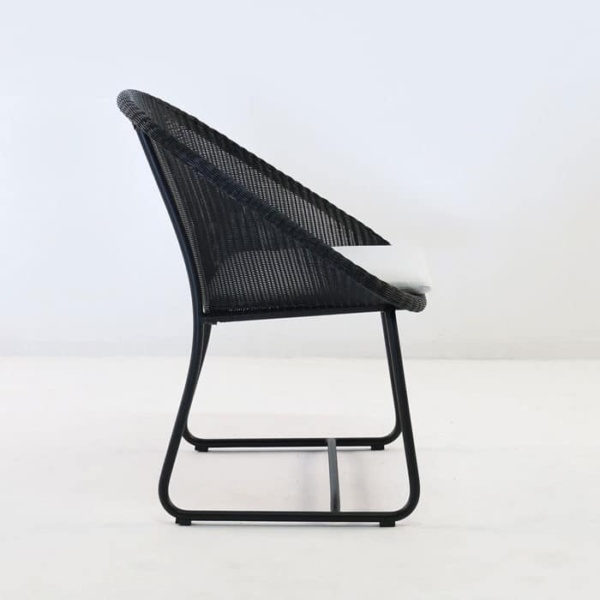 breeze wicker dining arm chair side view