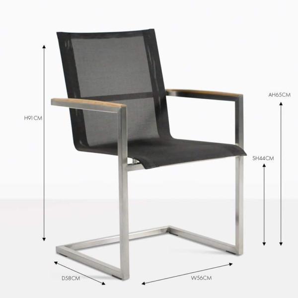 bruno stainless steel dining chair