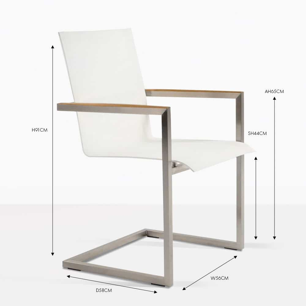 Bruno Stainless Steel Dining Chair (White)  Design Warehouse NZ