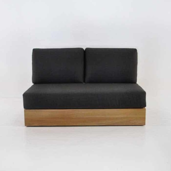 cabana armless loveseat front view