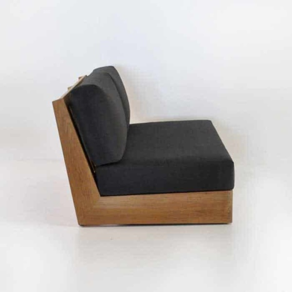 cabana armless loveseat side view
