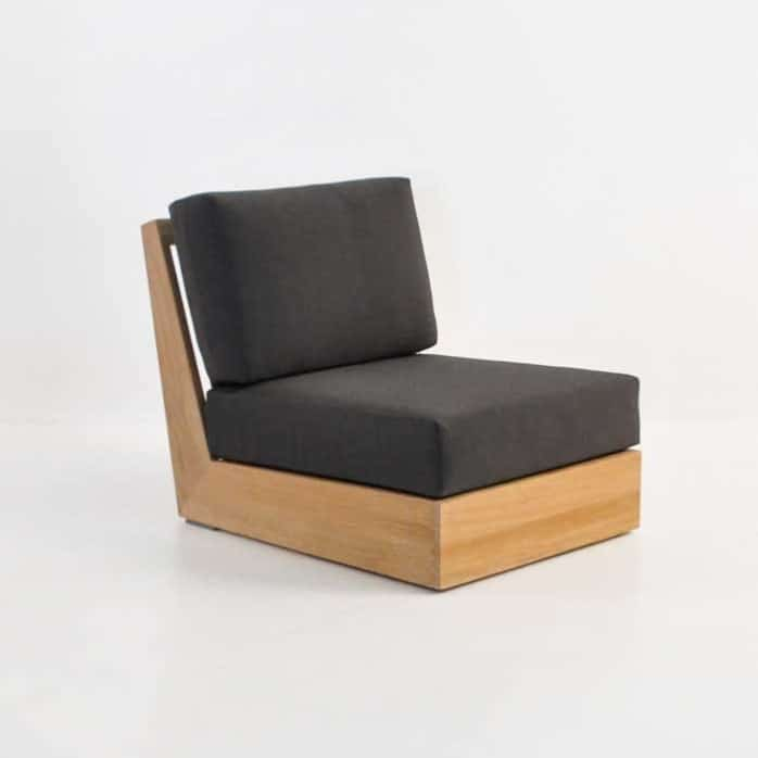 Cabana Teak Armless Club Chair
