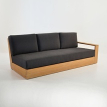 cabana teak one arm sofa