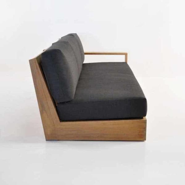 cabana teak one arm sofa with left arm