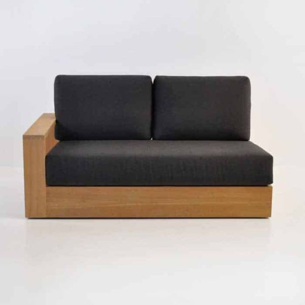 cabana teak one arm loveseat with right arm