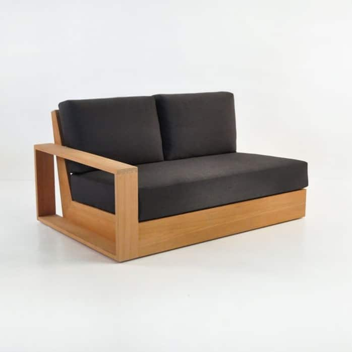 cabana teak one arm loveseat