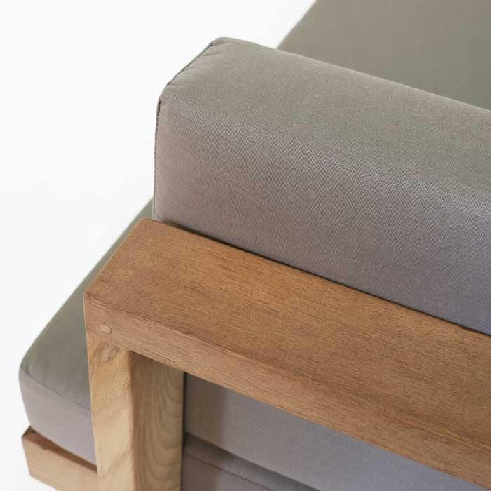 high quality teak furniture closeup image
