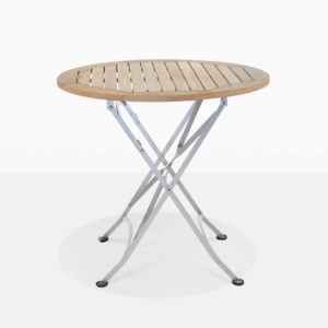 cafe round outdoor dining folding table