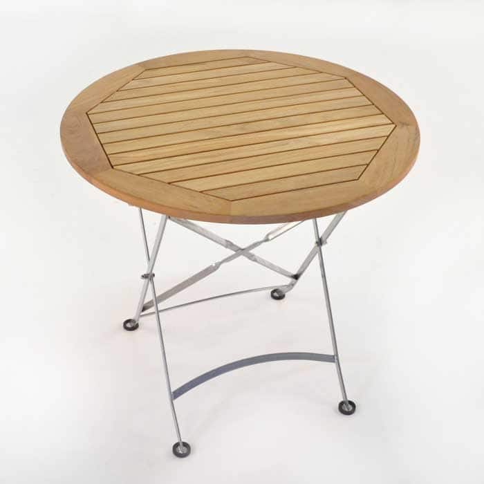 Cafe Round Teak Folding Table-1600