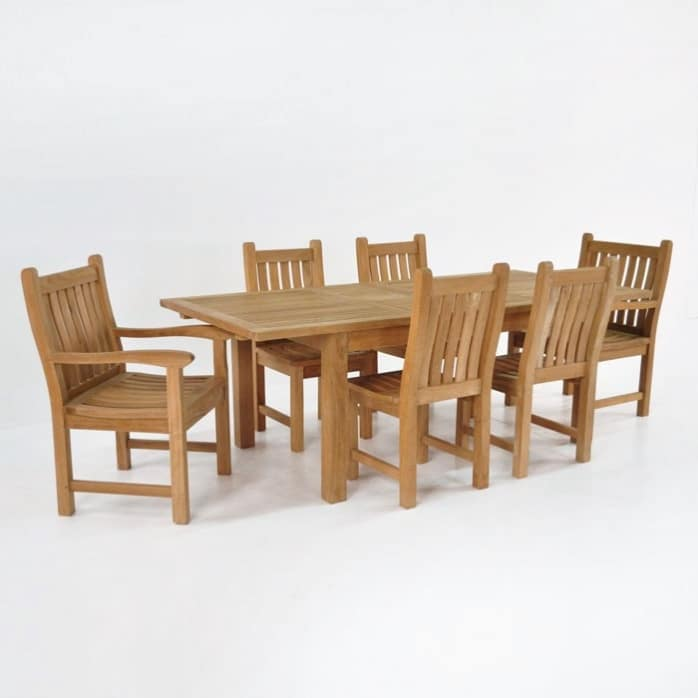 Outdoor Dining Set   Capri Extension Table with 6 Chairs-0
