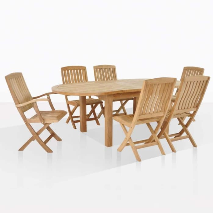 capri oval with como chairs