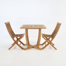 Teak Dining Set | Cayman Teak Table with 2 Prego Chairs-0
