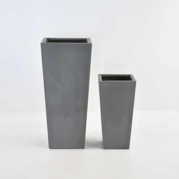 Raw Concrete Planters tapered