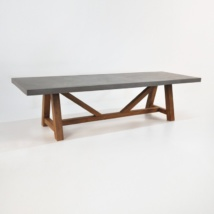 Raw Concrete Trestle Dining Tables
