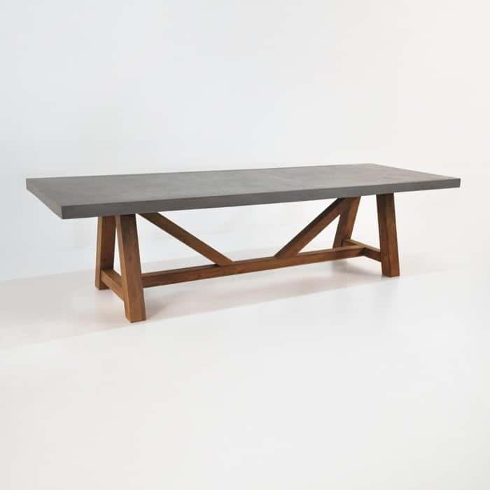 Raw Concrete Trestle Dining Tables Design Warehouse NZ : concrete trestle table 1 from designwarehouse.co.nz size 700 x 700 jpeg 37kB
