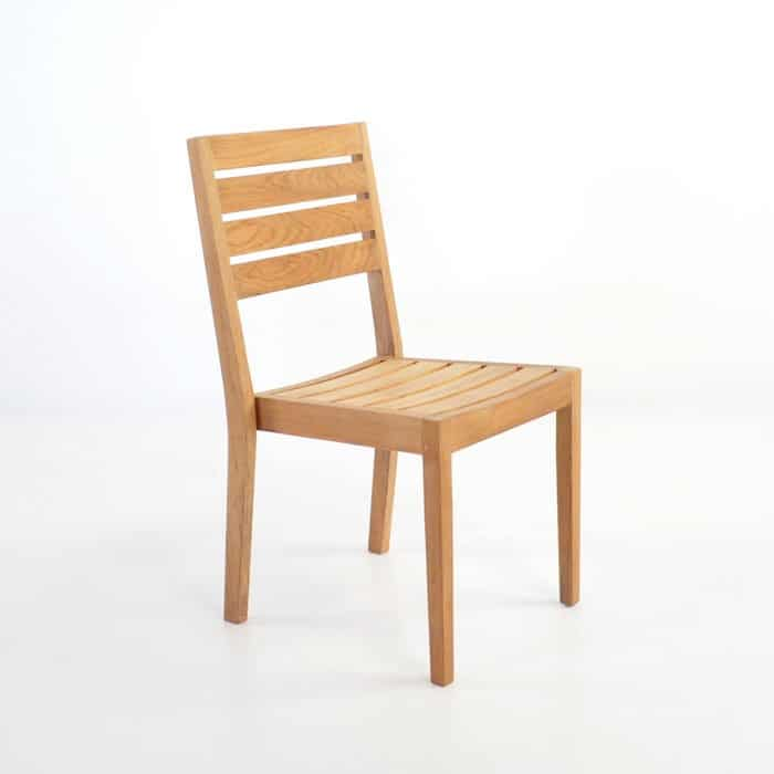 modern teak outdoor dining side chair