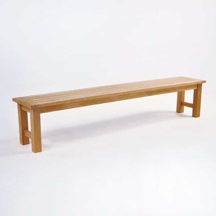 high end teak dining bench
