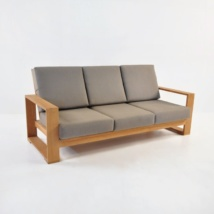 havana teak sofa with sunbrella cushions