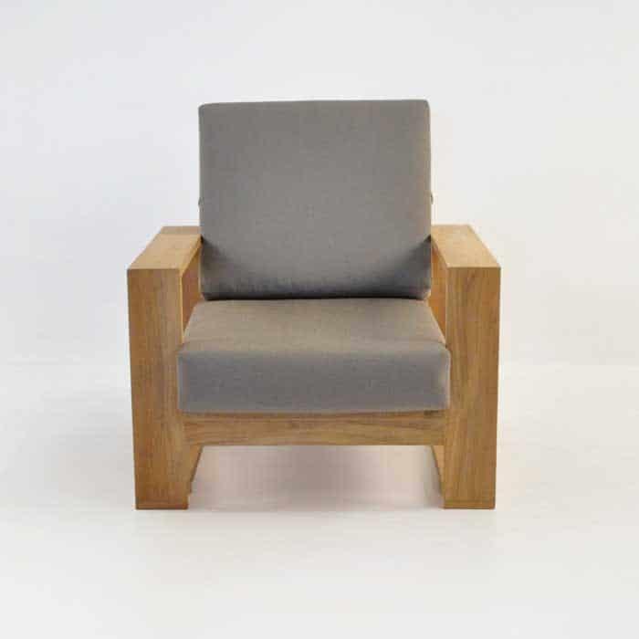 havana teak club chair with sunbrella cushions