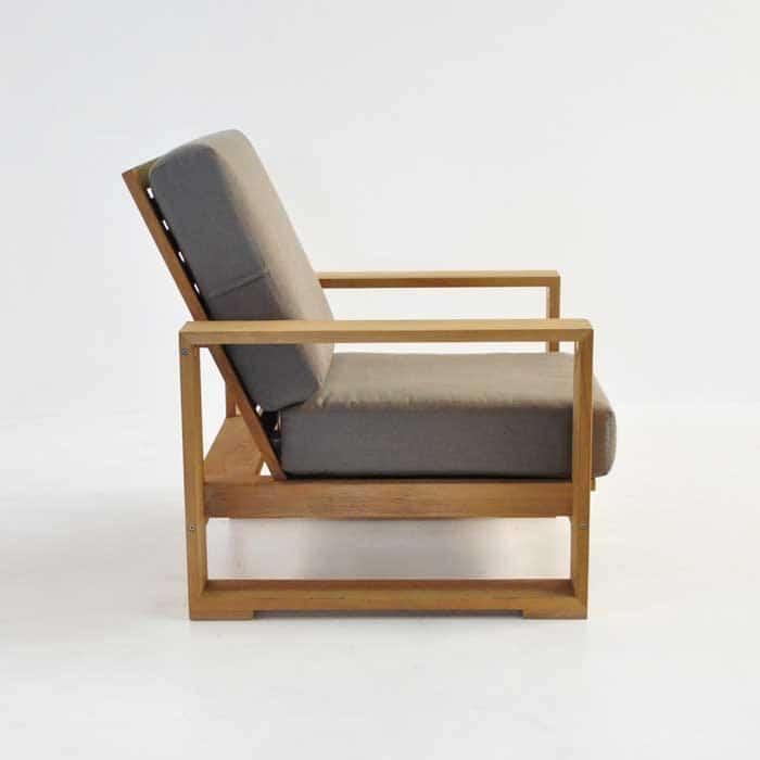 havana teak club chair side view