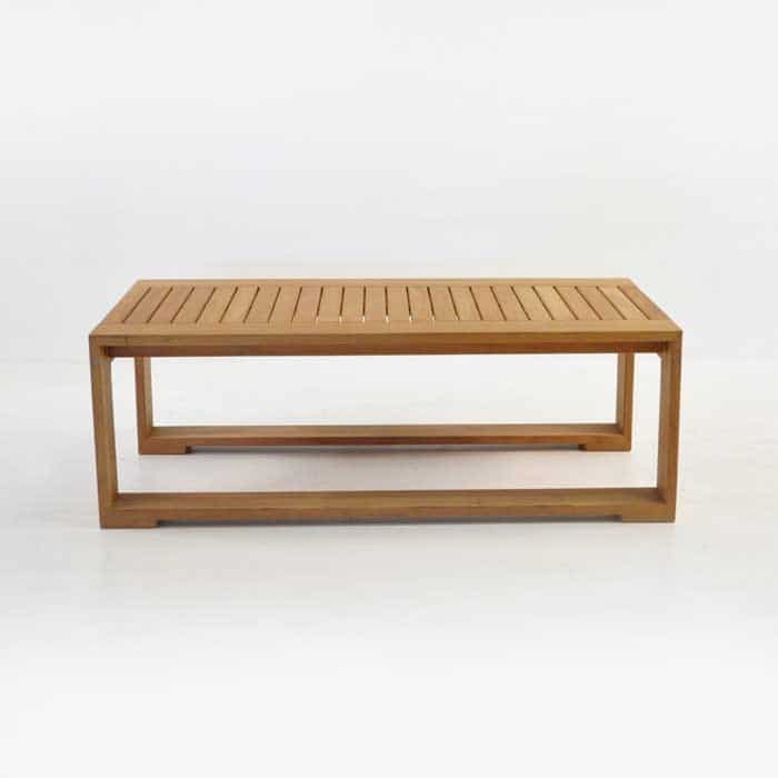 havana teak coffee table side view