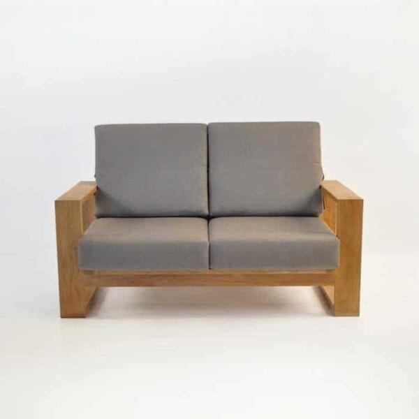 havana teak loveseat with sunbrella cushions