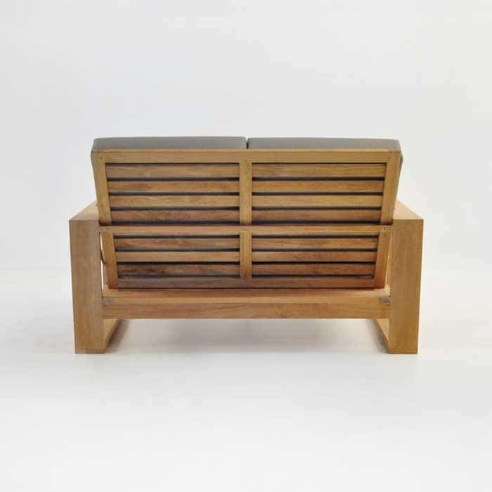 havana teak loveseat rear view