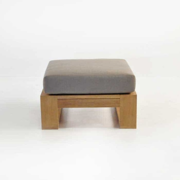 havana teak ottoman with sunbrella cushion