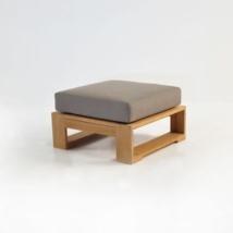 havana teak ottoman with cushion