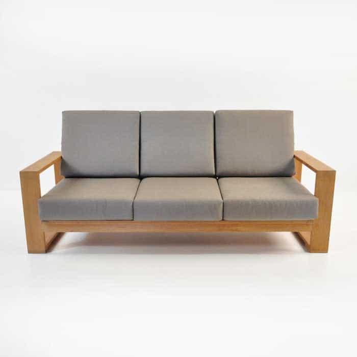 havana teak sofa front view