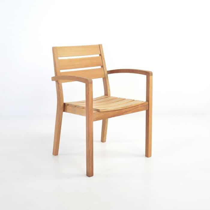 modern teak outdoor dining chair