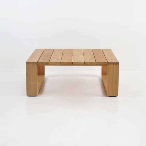 cabana teak coffee table side view