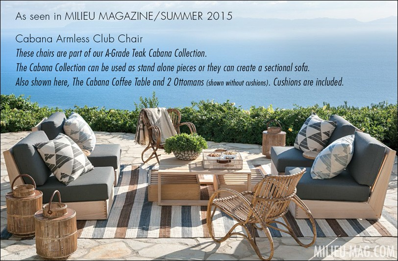 Cabana Club Chair As seen in Milieu