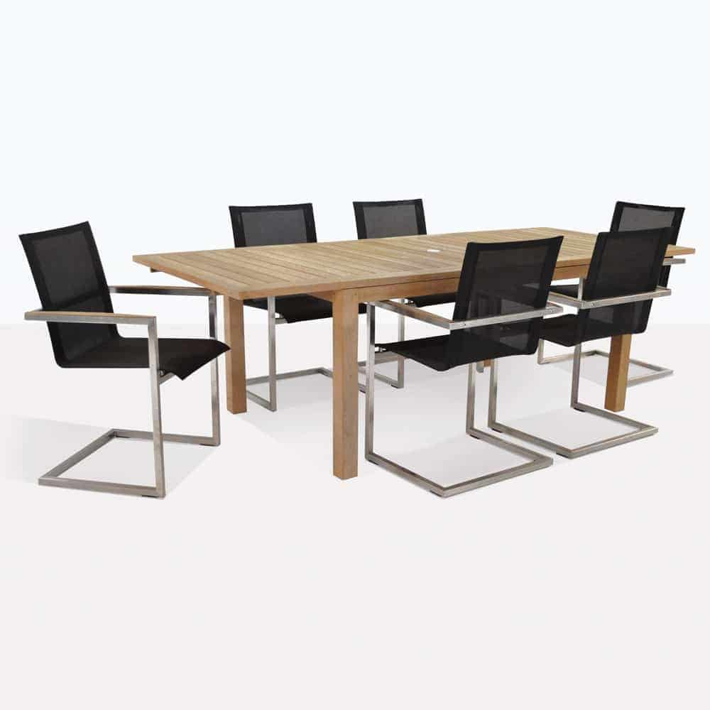Monaco Teak Dining Set with 6 Bruno Chairs | Design ...